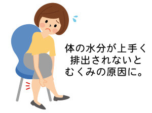 足がむくんで辛い女性